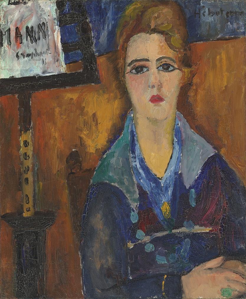 Jeanne Hebuterne-La Femme Au Collier, Modele De Modigliani-