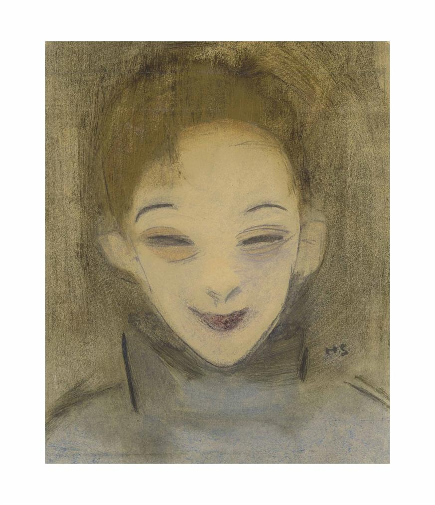 Helene Schjerfbeck - Hymyileva Katri / Katri Leende / Katri Smiling-1922