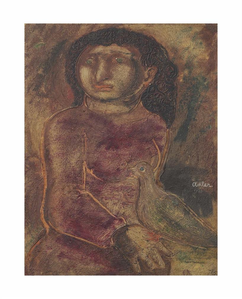 Jankel Adler-Woman With Dove-1929