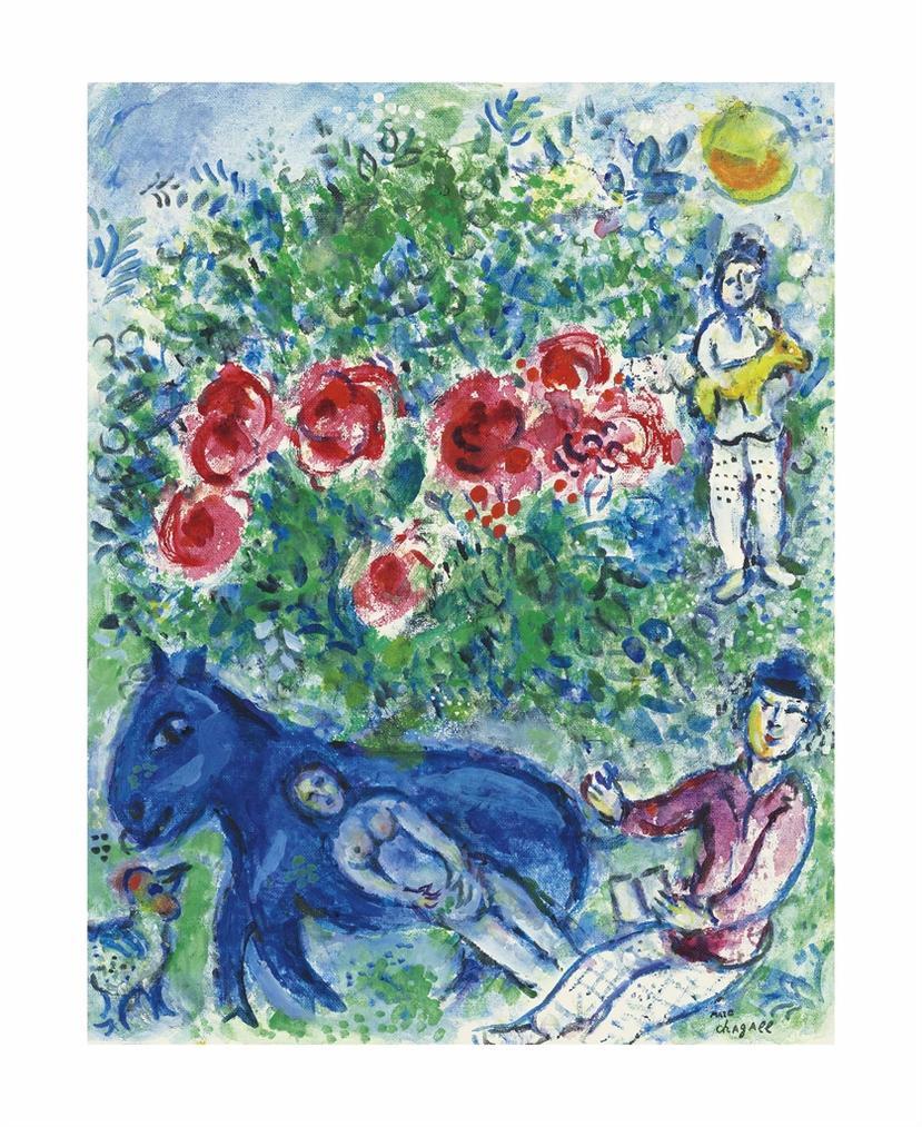 Marc Chagall-Ane Bleu-1978