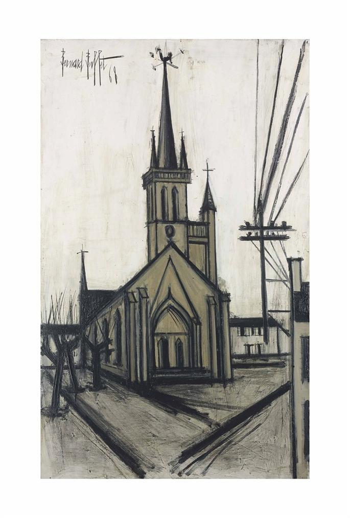 Bernard Buffet-La Chapelle De La Trinite-1968