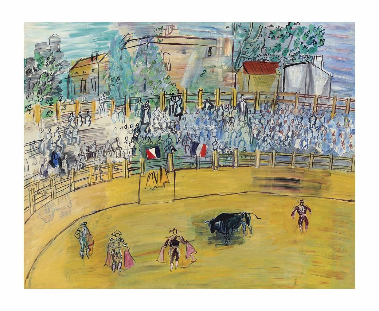 Raoul Dufy-La Course De Taureaux-1944