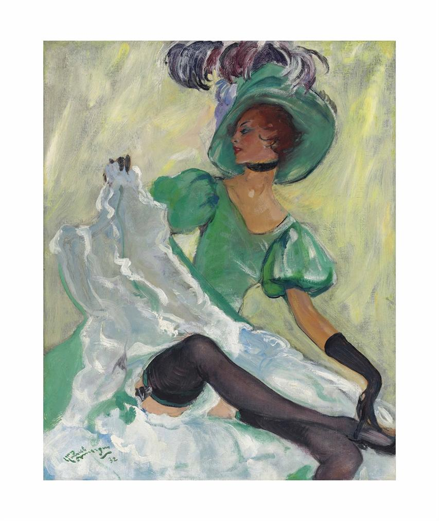 Jean-Gabriel Domergue-Danseuse De French Cancan-1932