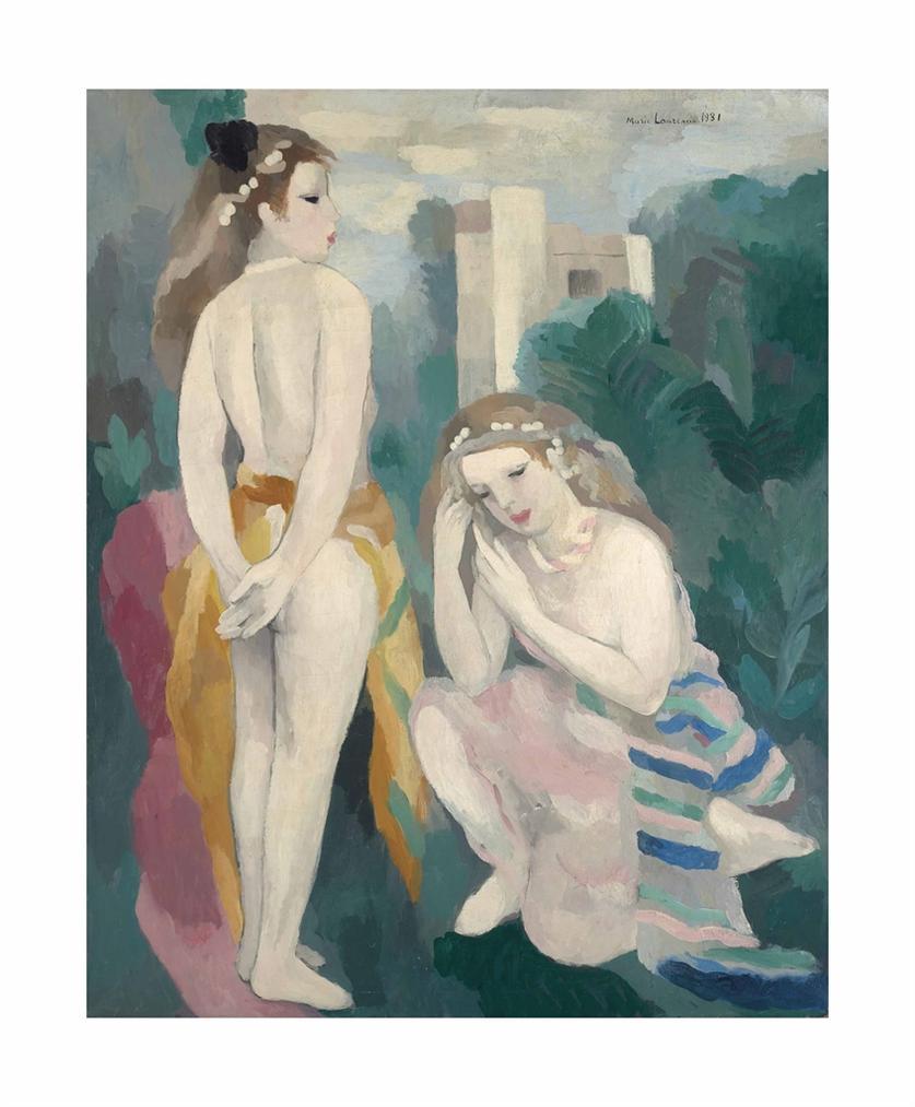 Marie Laurencin-Deux Jeunes Filles Dans Un Paysage-1931