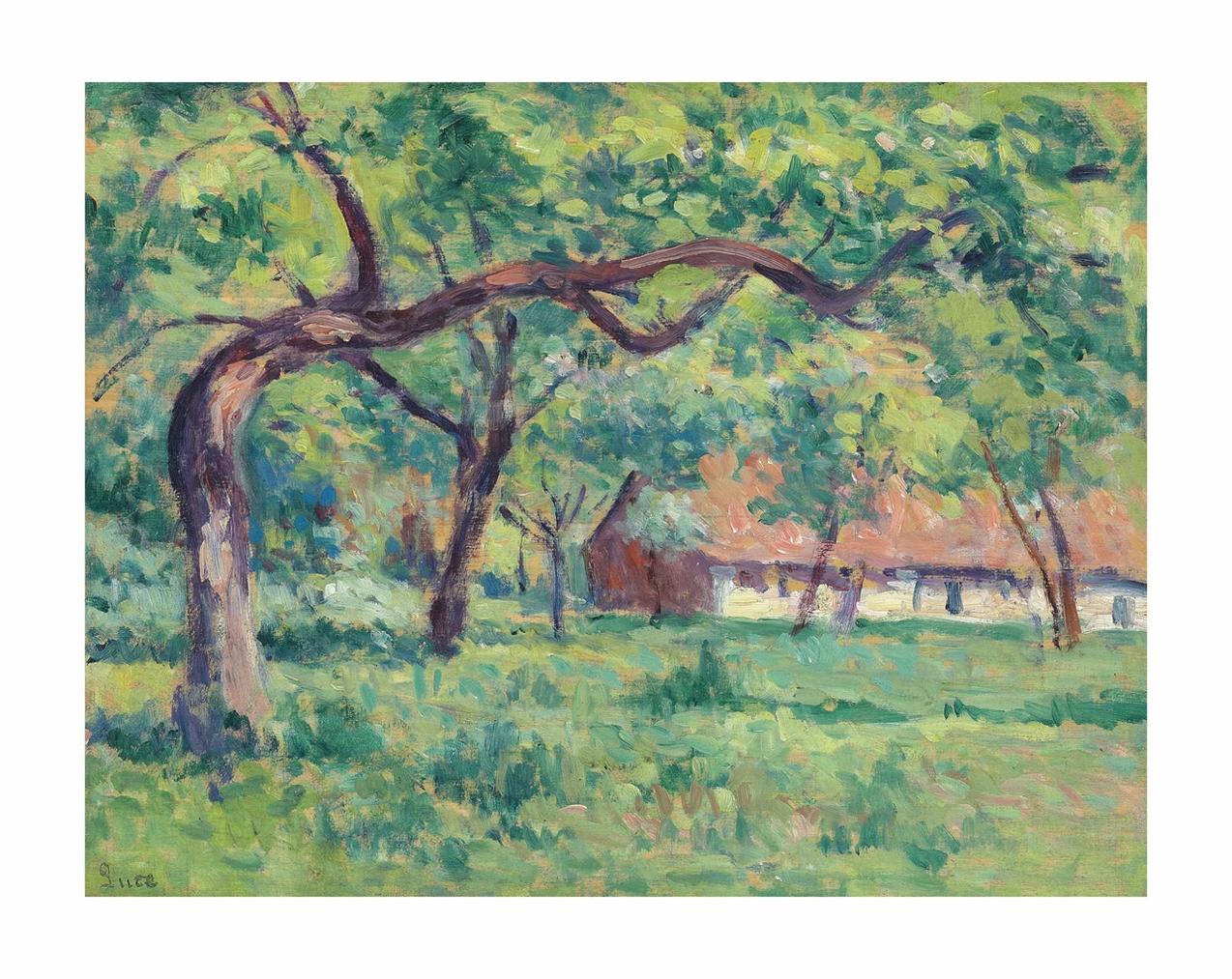 Maximilien Luce-Ferme A Saint-Laurent-En-Caux-1909