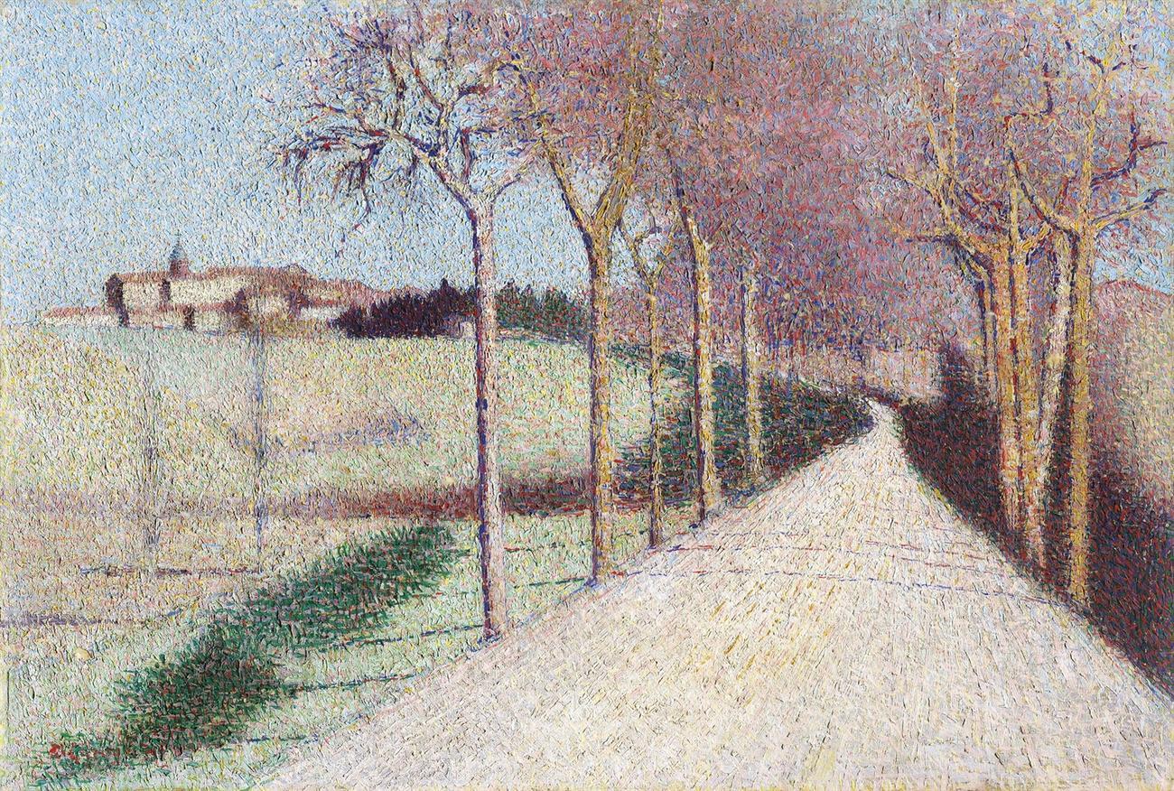 Achille Lauge-La Route De Cailhau (Aude)-1896