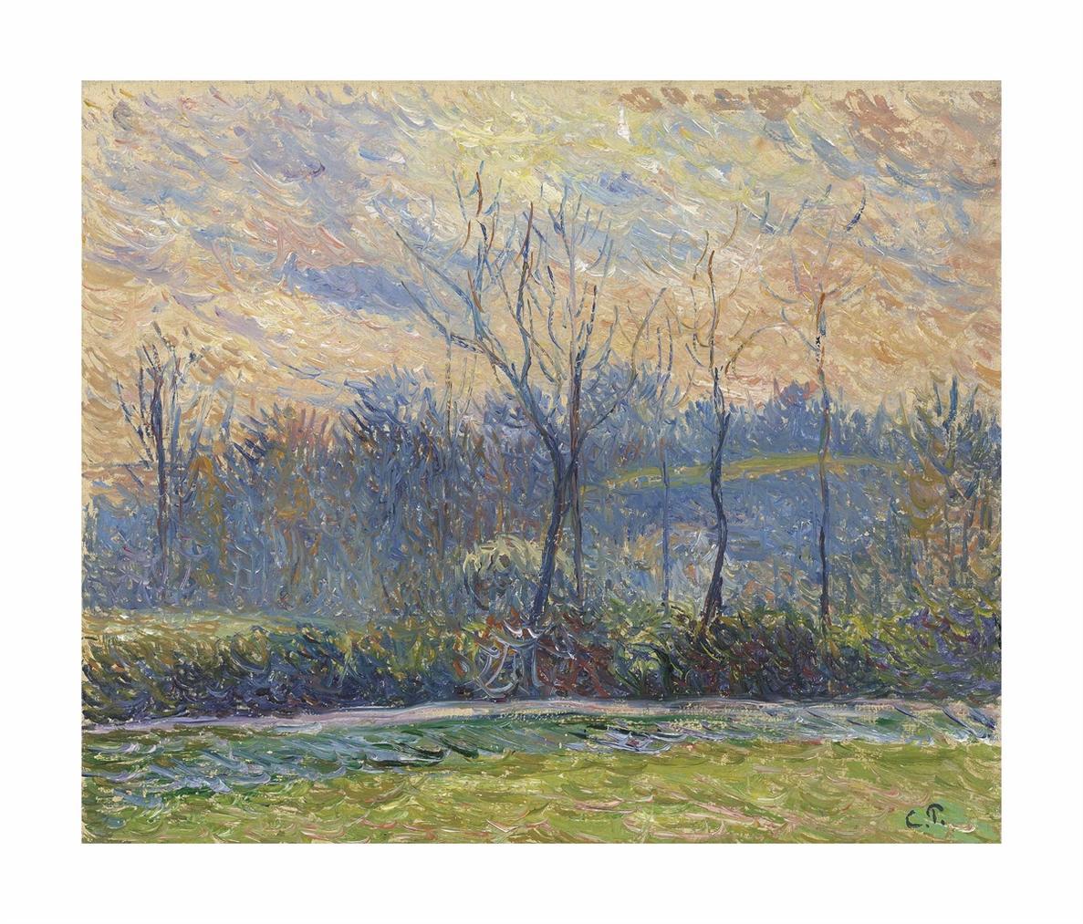 Camille Pissarro-Soleil Couchant, Hiver-1885