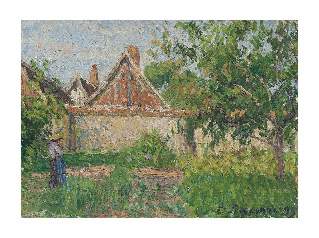 Camille Pissarro-Coin Du Jardin A Eragny-1899