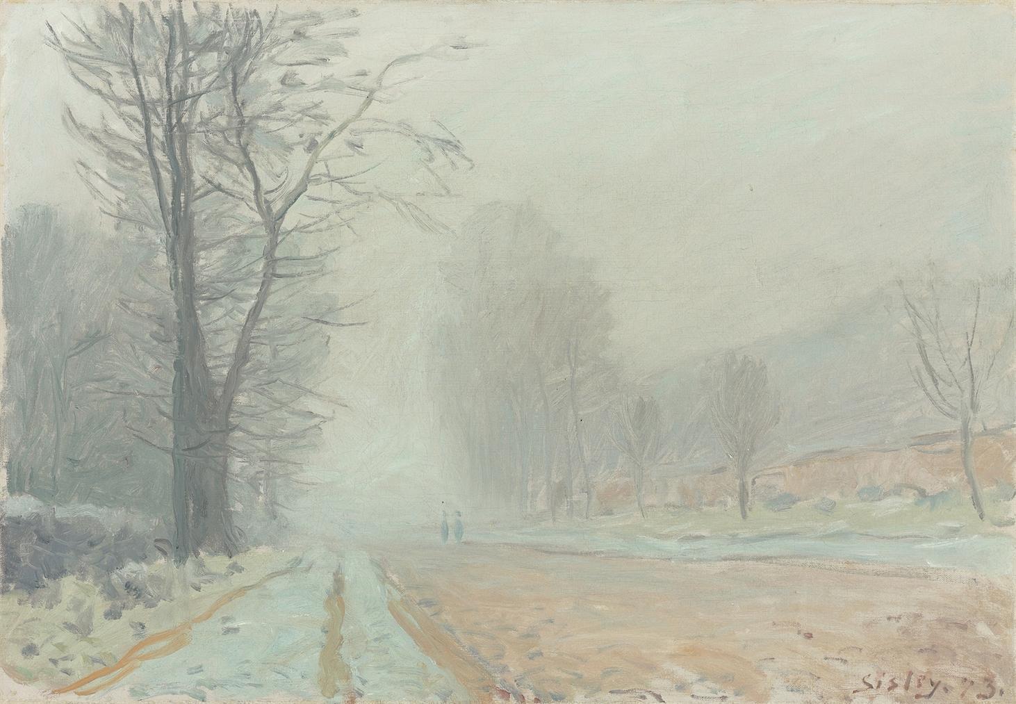 Alfred Sisley-Route A Louveciennes - Le Matin-1873