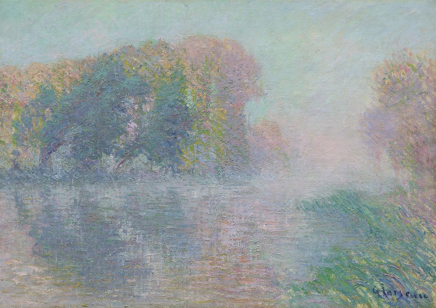 Gustave Loiseau-La Riviere En Automne (Bord De Seine)-1919