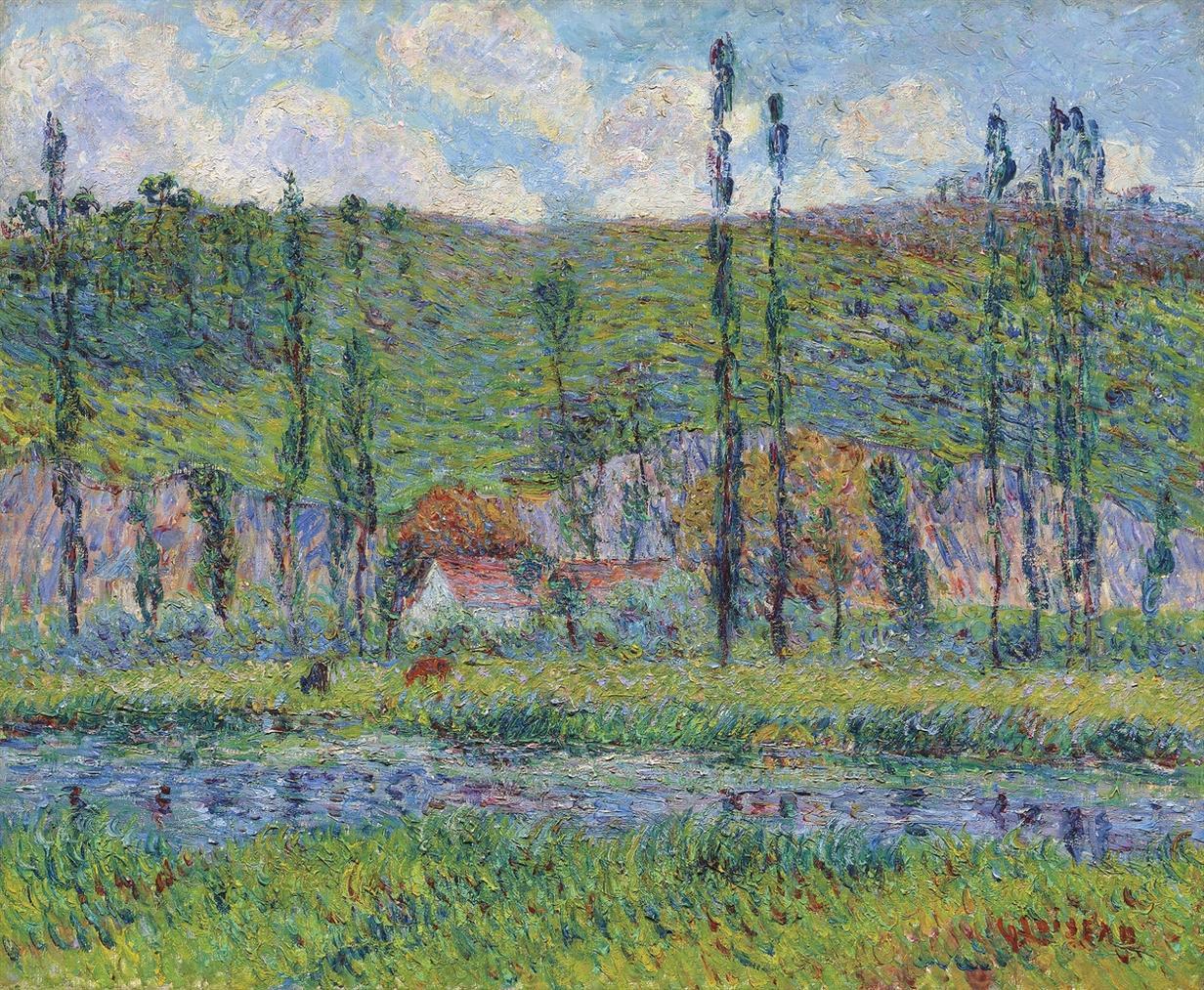 Gustave Loiseau-Rives De L'Eure Et Le Haut Cremonville-1899