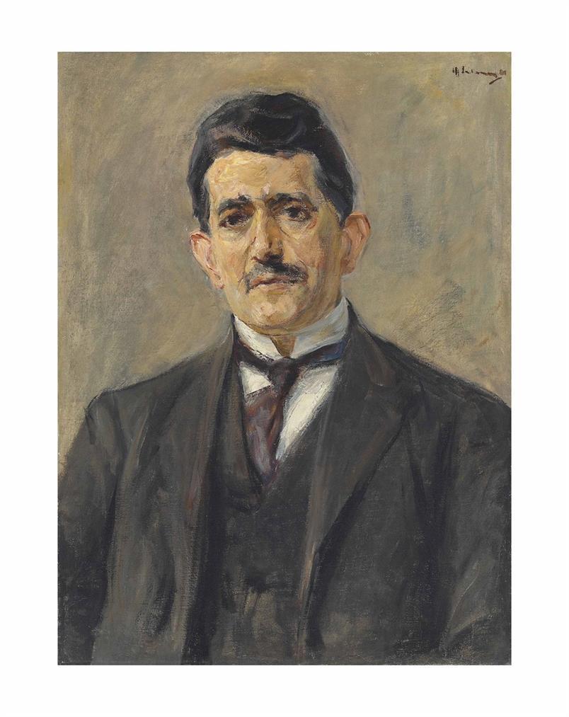 Max Liebermann-Bildnis Des Verlegers Bruno Cassirer-1921