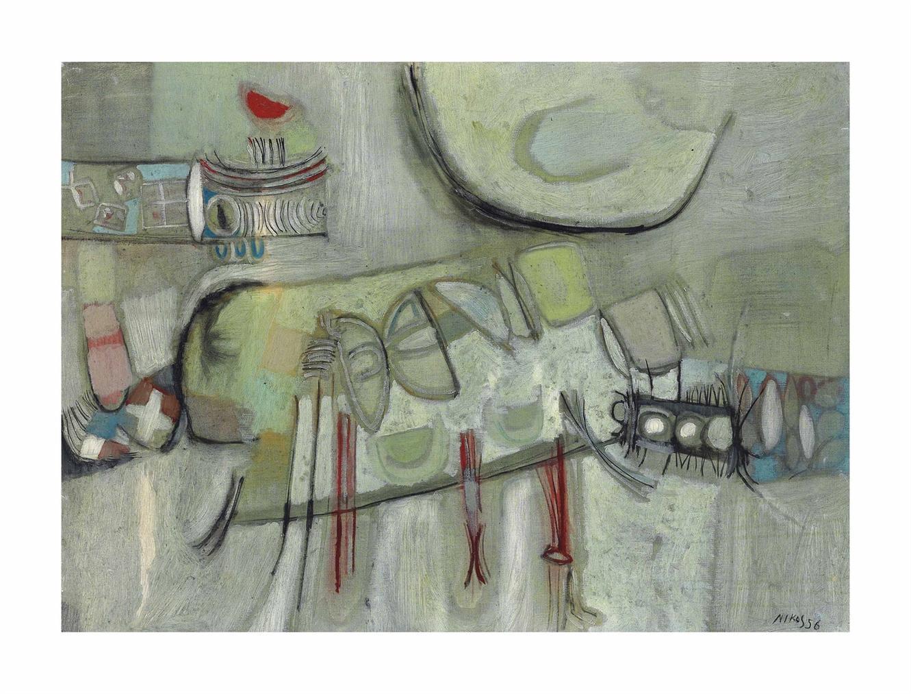 Nikos Kessanlis - Paesaggio Azzurro-1956