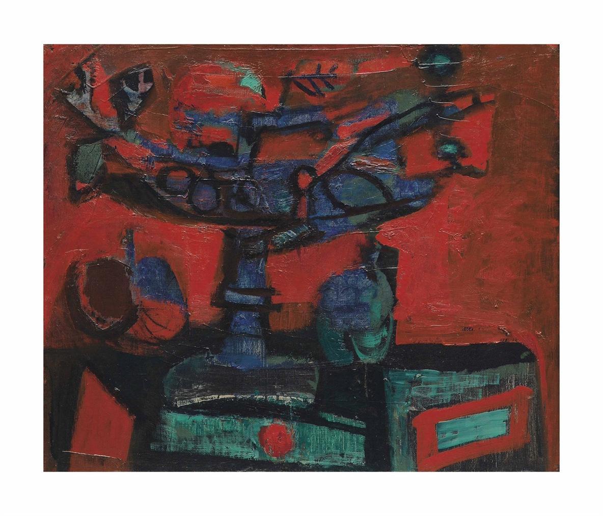 Antoni Clave-Nature Morte Rouge-1955