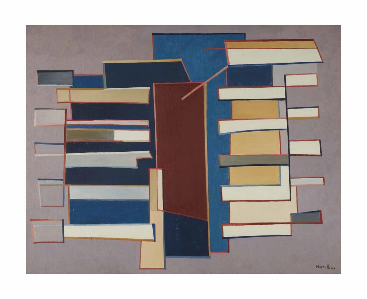 Alberto Magnelli-Direction Entouree-1949