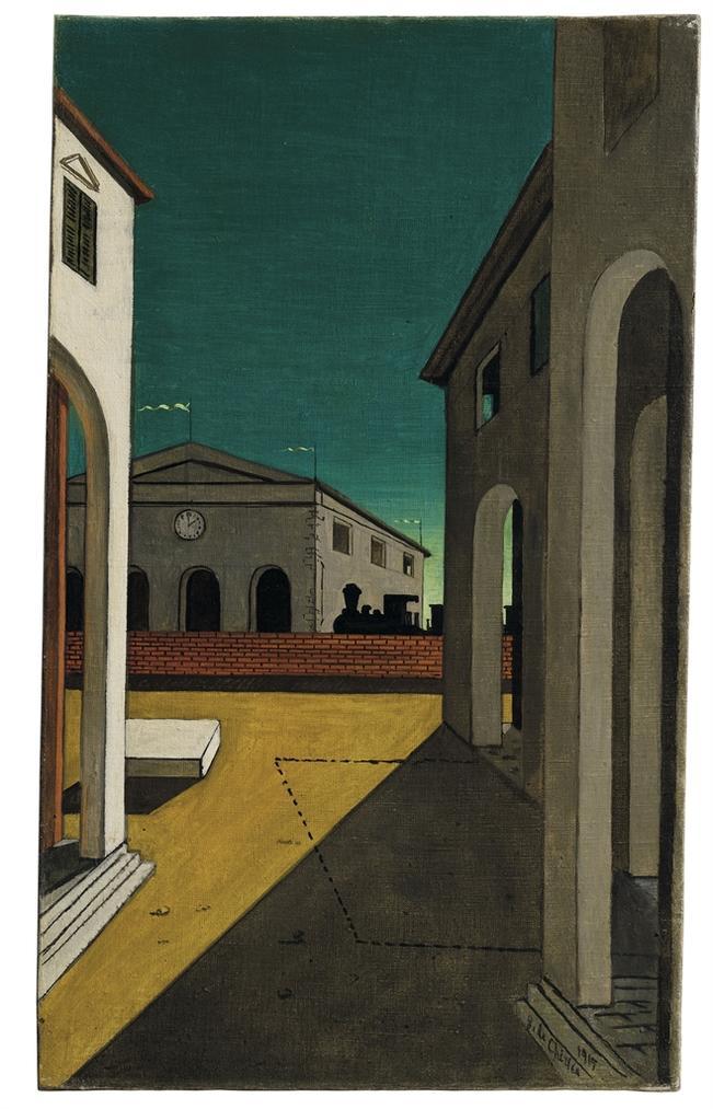 Giorgio de Chirico-Malinconia Torinese-1939