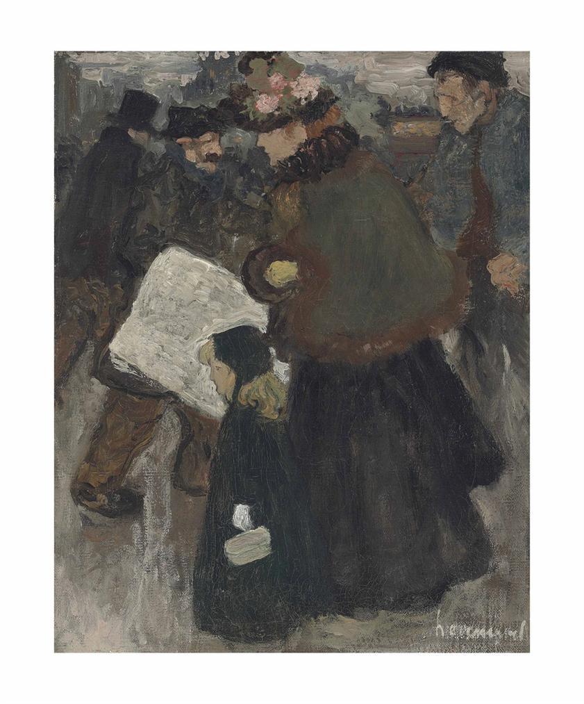 Henri Evenepoel - Au Boulevard, Cinq Heures Du Soir-1897