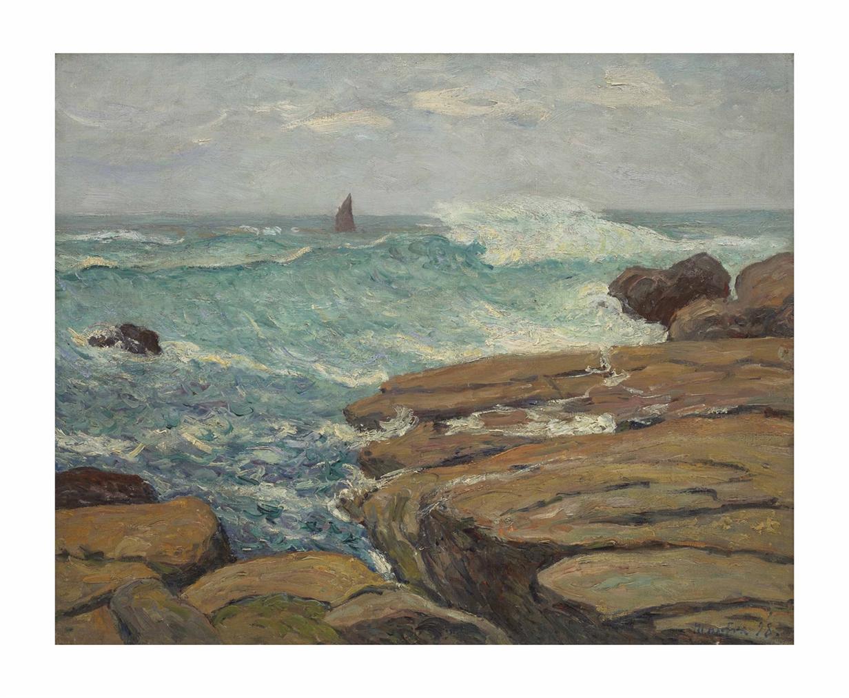 Maxime Maufra-La Vague Echevelee, Saint-Guenole, Penmarch-1898