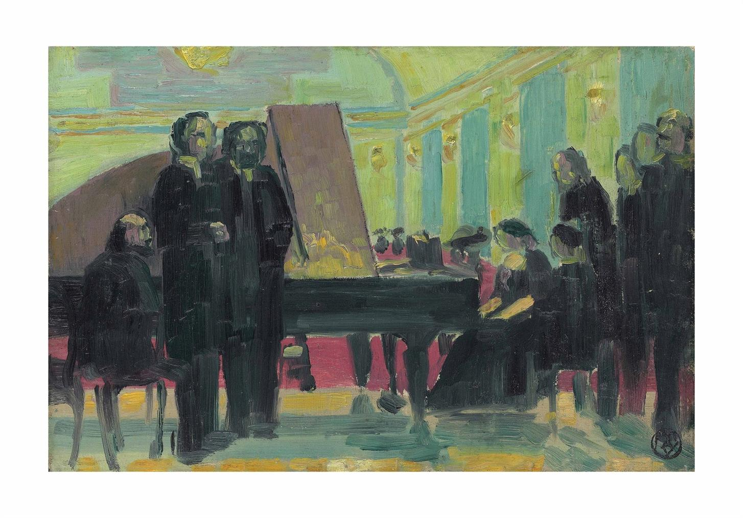 Maurice Denis-Une Reunion Musicale-1912