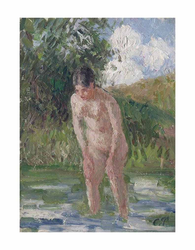 Camille Pissarro-Baigneuse Les Pieds Dans Leau-1896