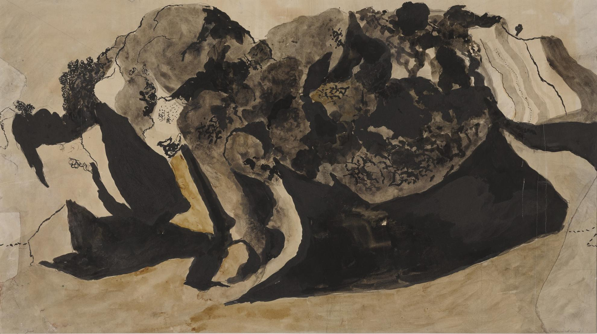 Graham Sutherland-Landscape With Low Cliffs And Woods-1938