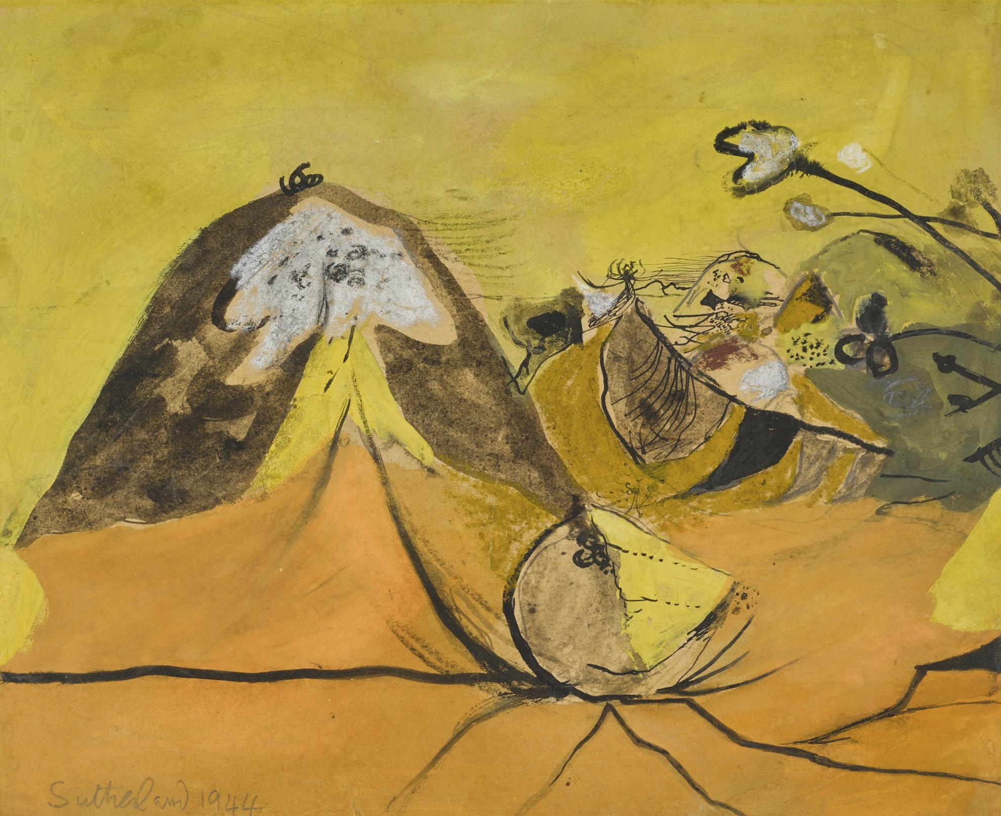 Graham Sutherland-Rocks And Hills-1944