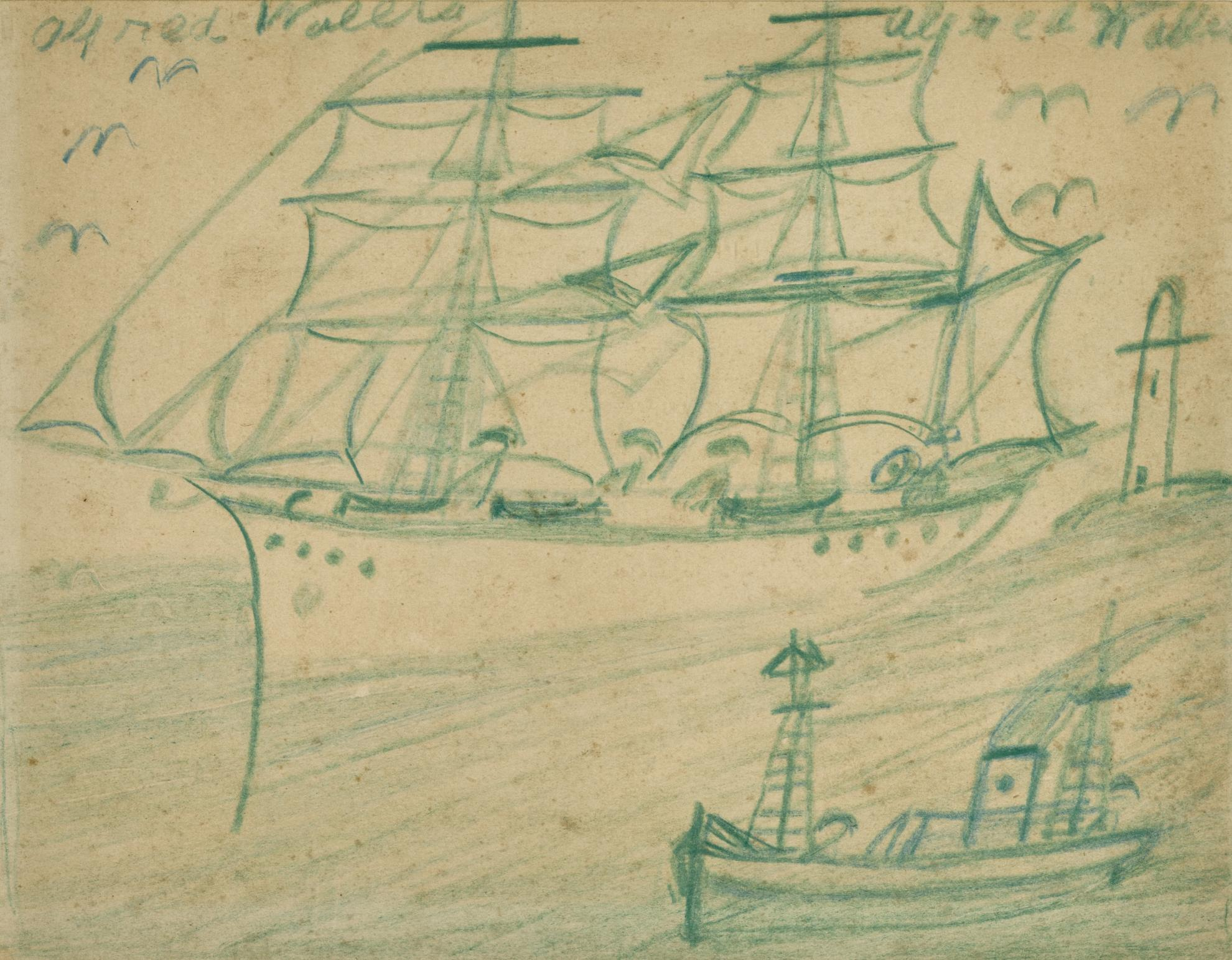 Alfred Wallis-Double Sided Boat Study-