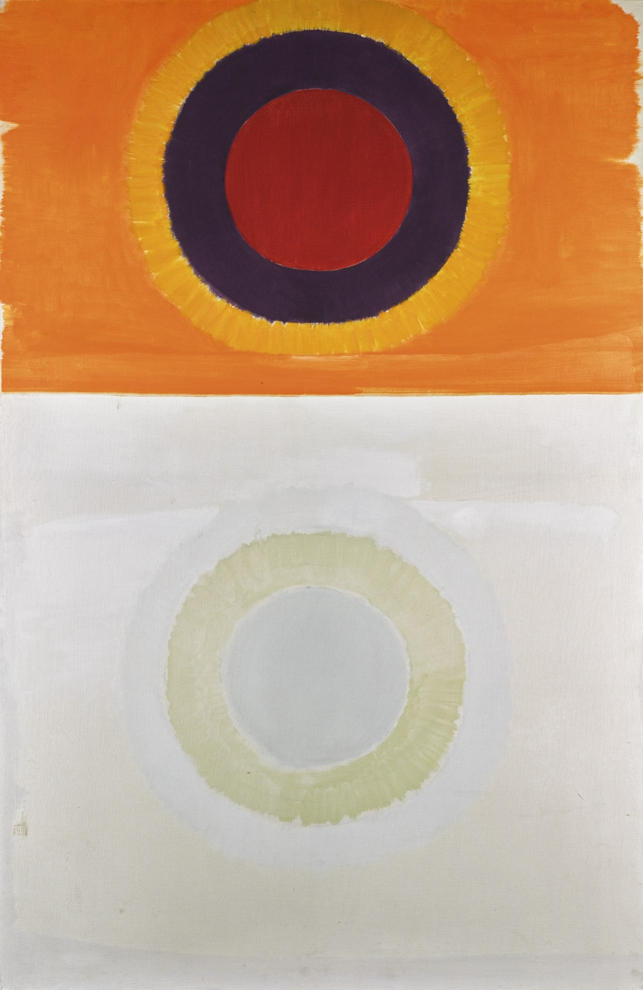 Michael Kidner-Orange And White Painting-1960