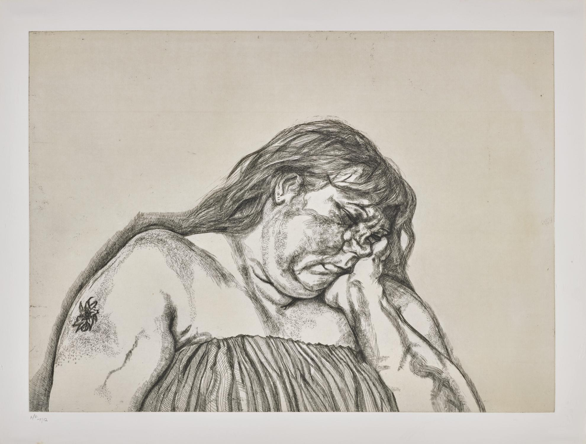 Lucian Freud-Woman With An Arm Tattoo (Figura 40)-1996