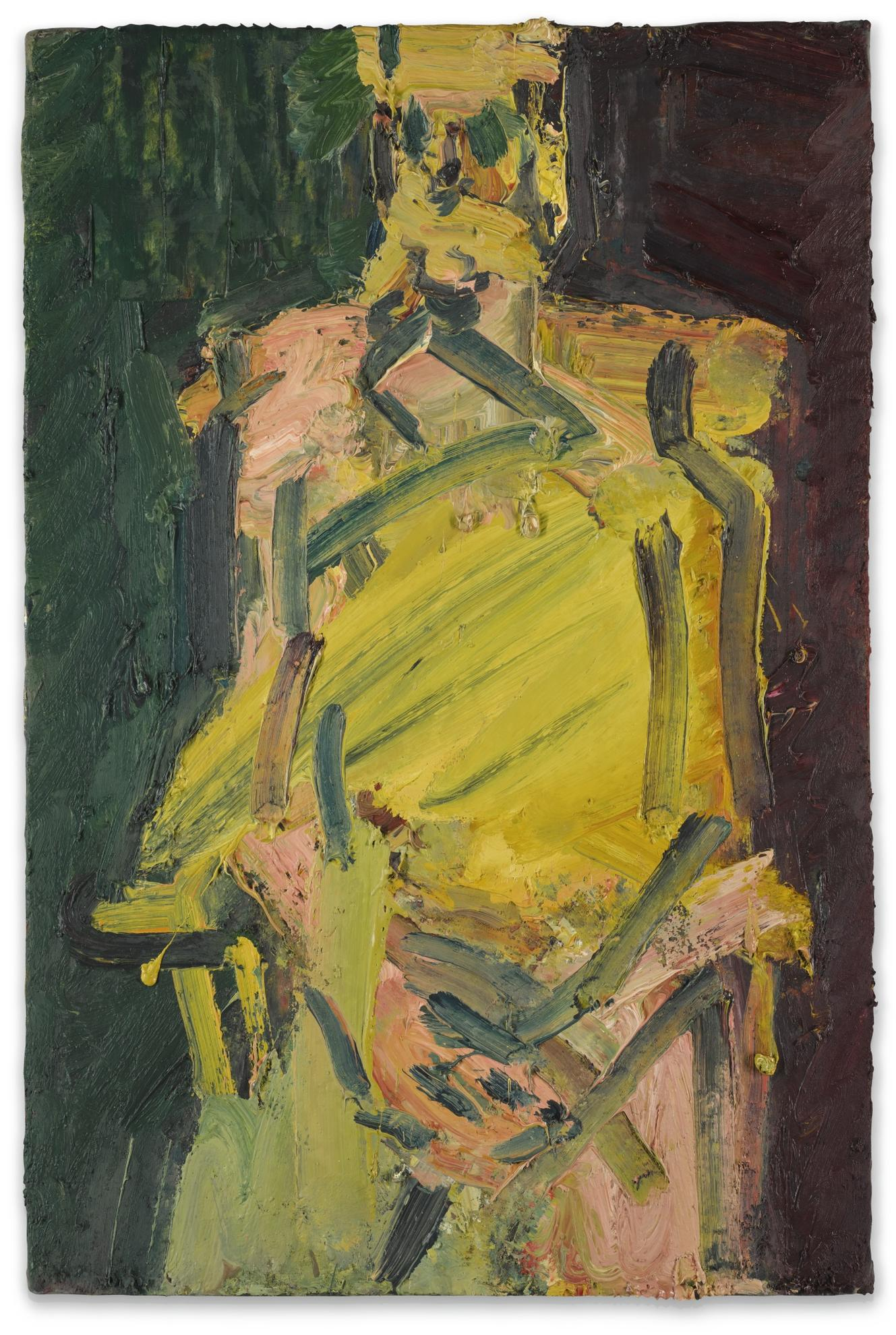 Frank Auerbach-Jake Seated-2000
