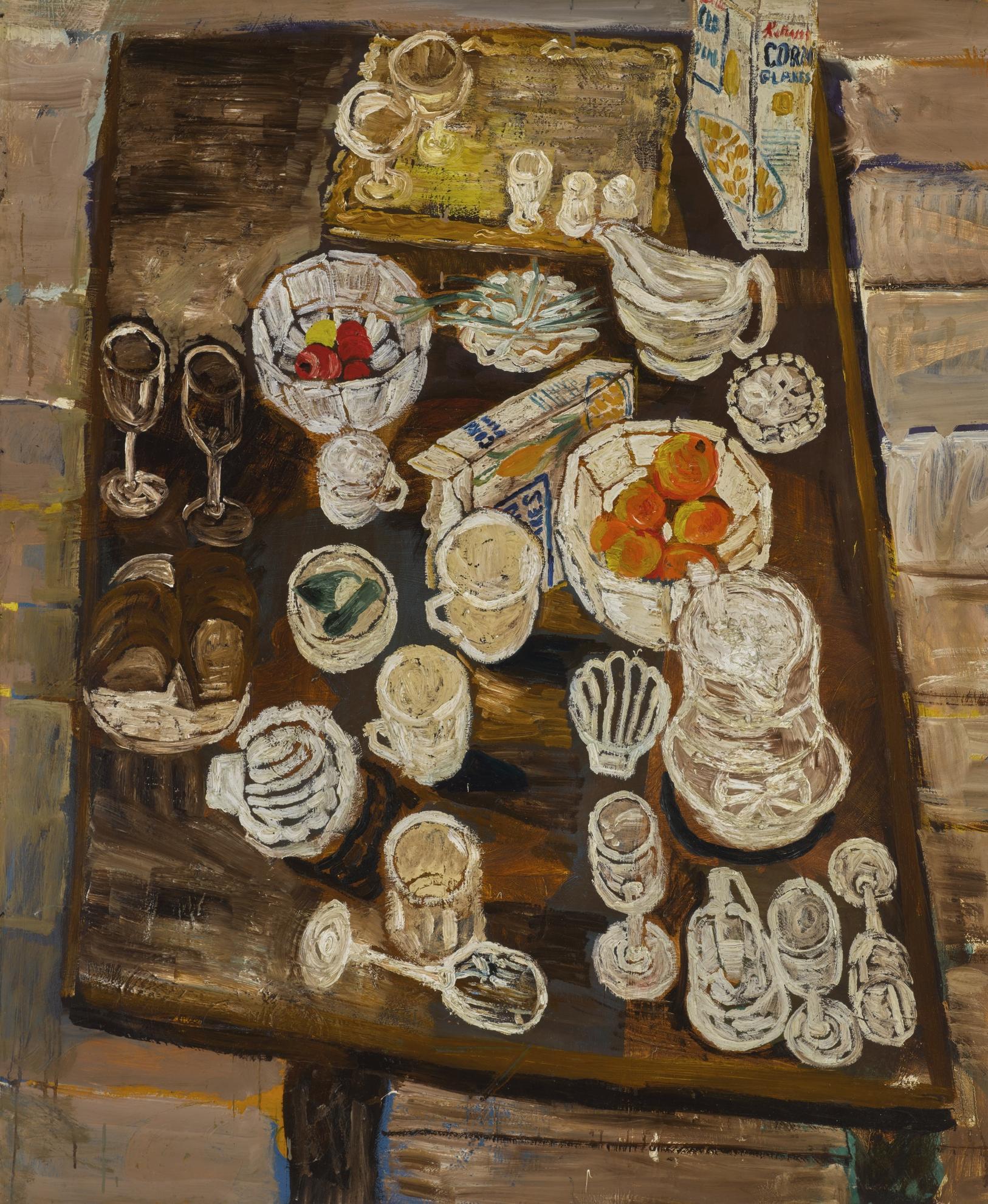 John Bratby-Still Life With Oranges-1954
