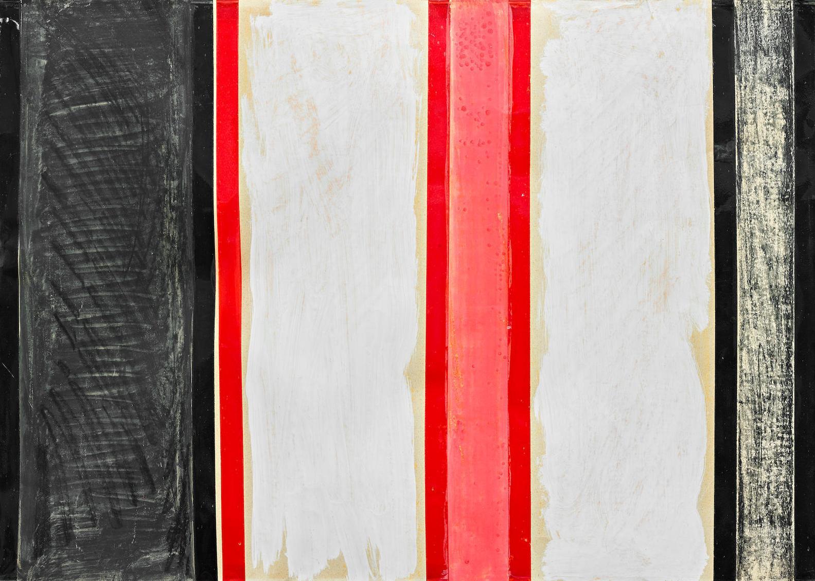 Tano Festa-15-N.15 (Bianco - Rosso E Nero)-1961