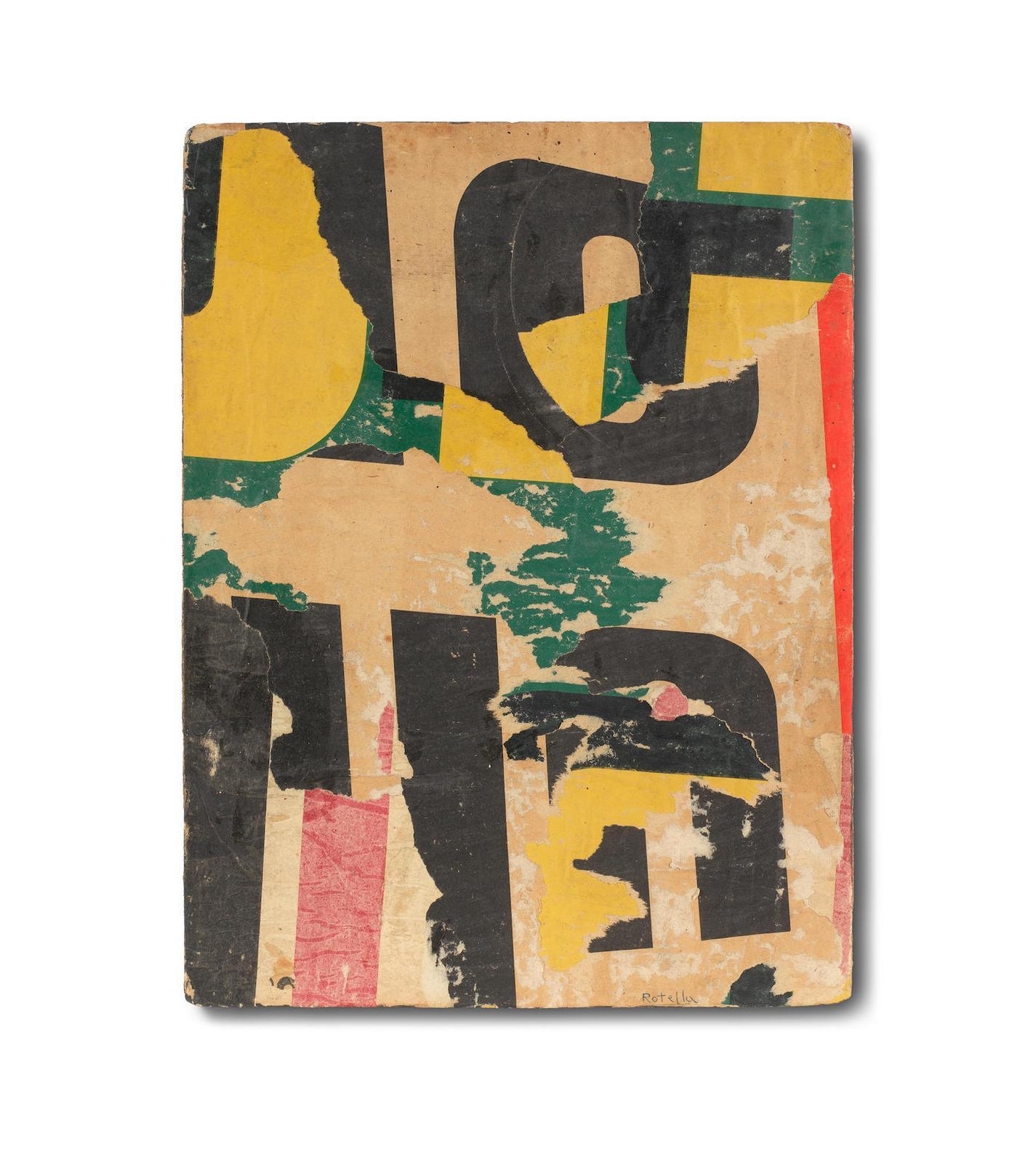 Mimmo Rotella-Lettere-1961