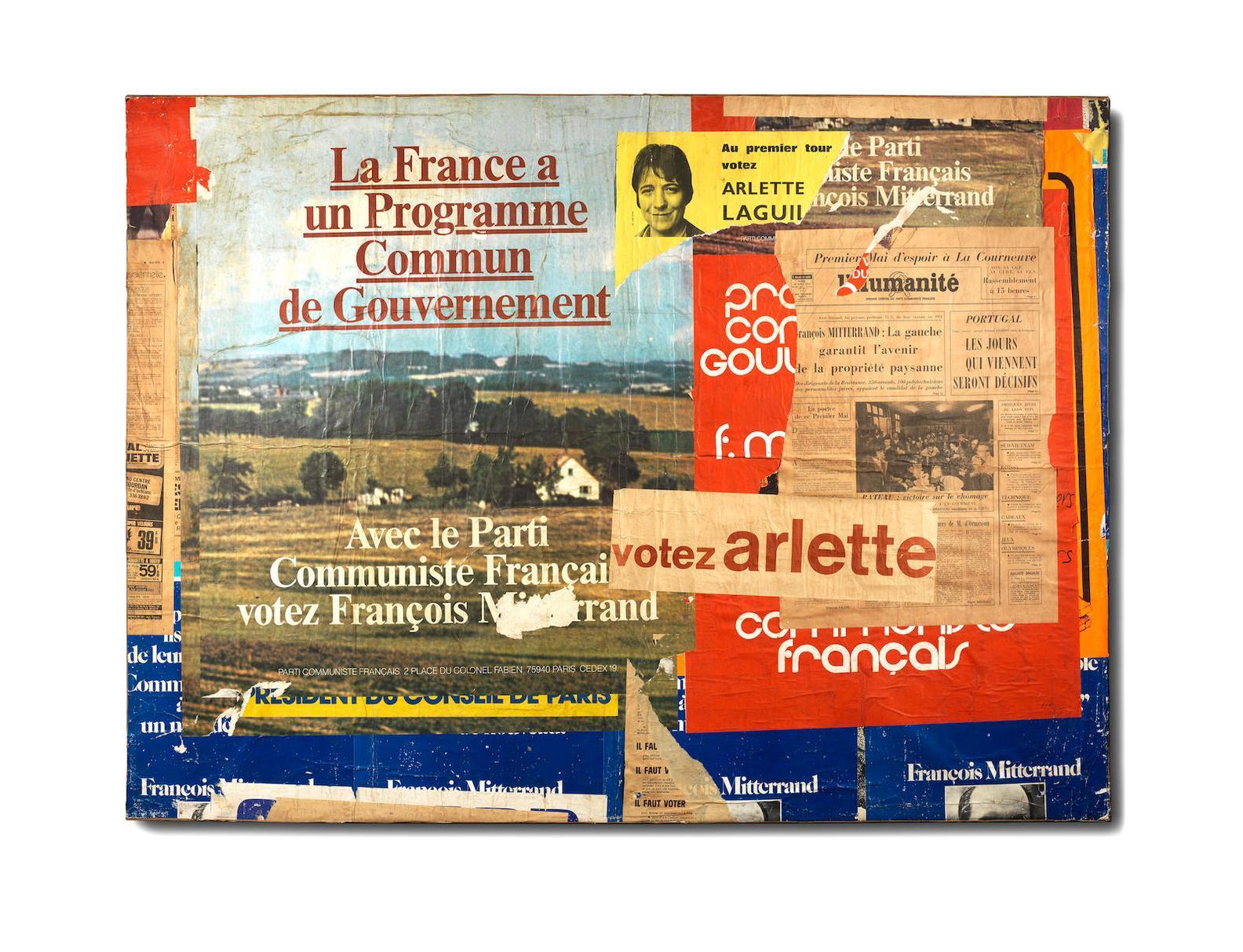 Raymond Hains-Votez Arlette-1974