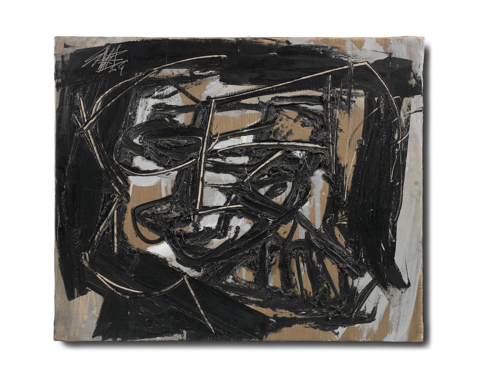 Antonio Saura-Retrato No. 68/Autoportrait-1959