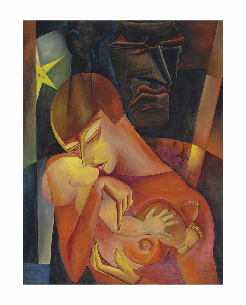 Hannah Hoch-Frau Und Saturn-1922