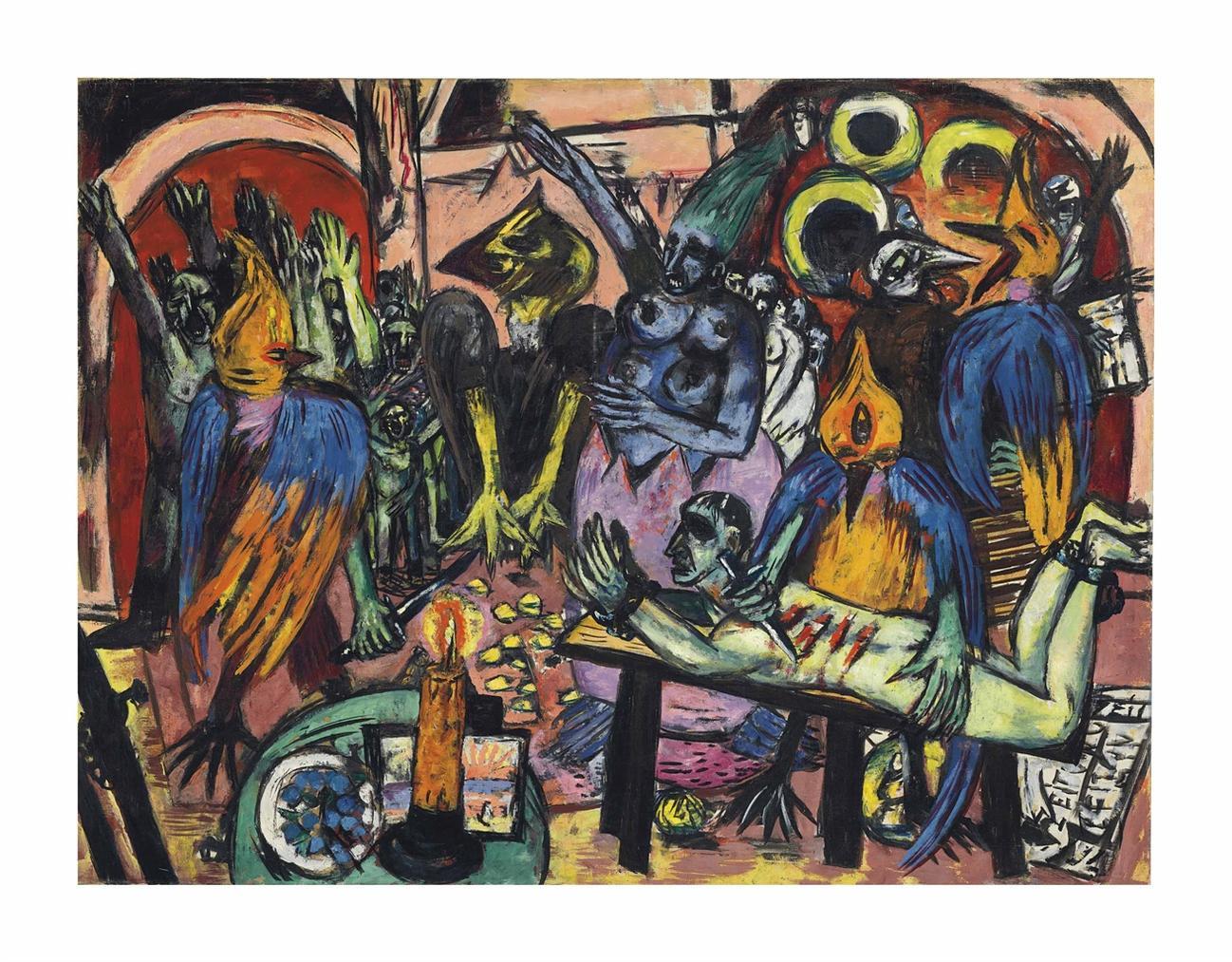 Max Beckmann-Holle Der Vogel-1938