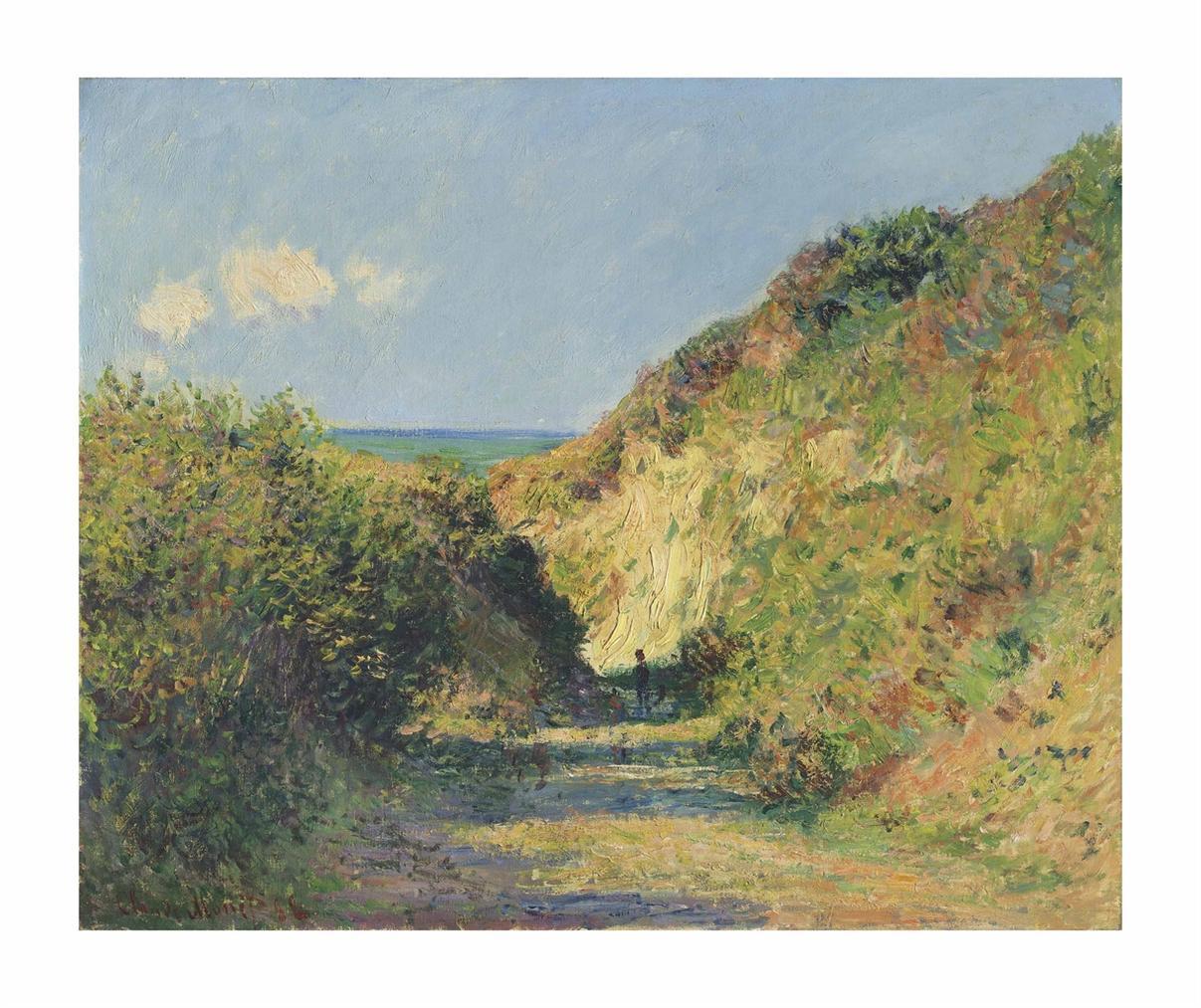 Claude Monet-Le Chemin Creux-1882