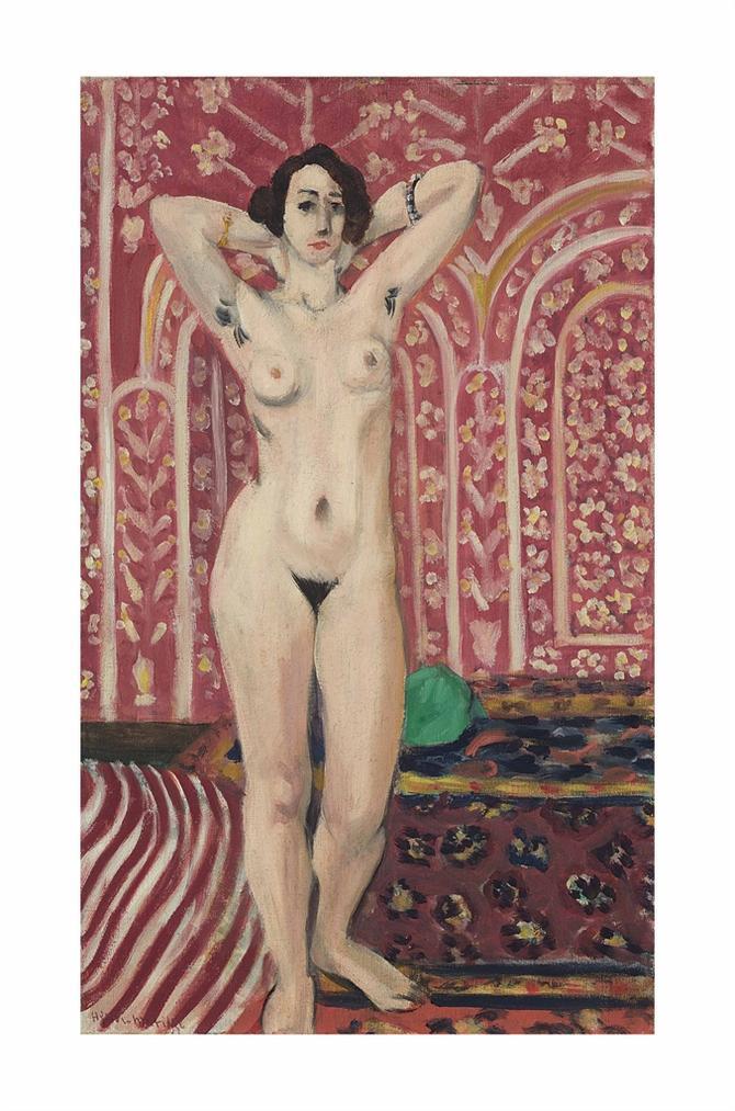 Henri Matisse-Nu Sur Fond Rouge-1922