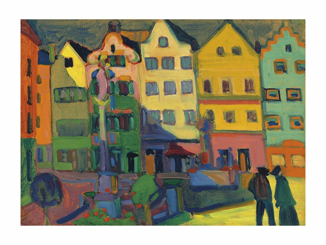 Wassily Kandinsky-Weilheim-Marienplatz-1909