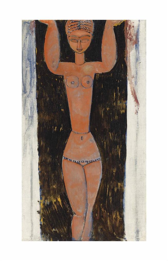 Amedeo Modigliani-Cariatide-1913