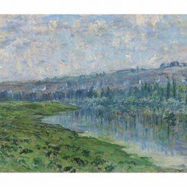Claude Monet-La Seine Et Les Coteaux De Chantemesle-1880