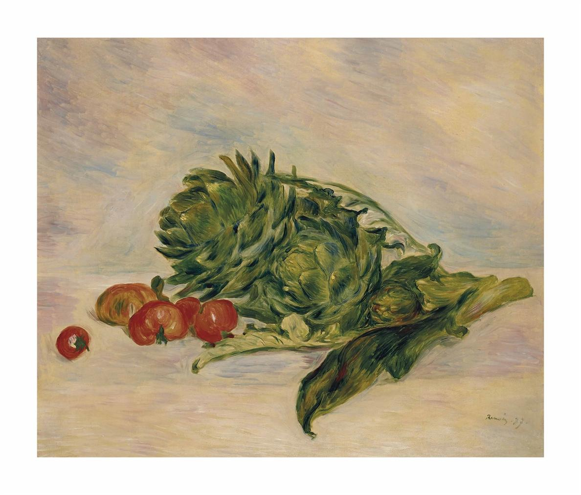 Pierre-Auguste Renoir-Artichauts Et Tomates-1887