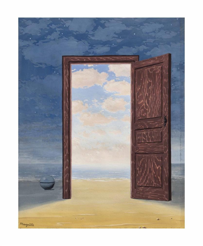 Rene Magritte-L'Embellie-1962