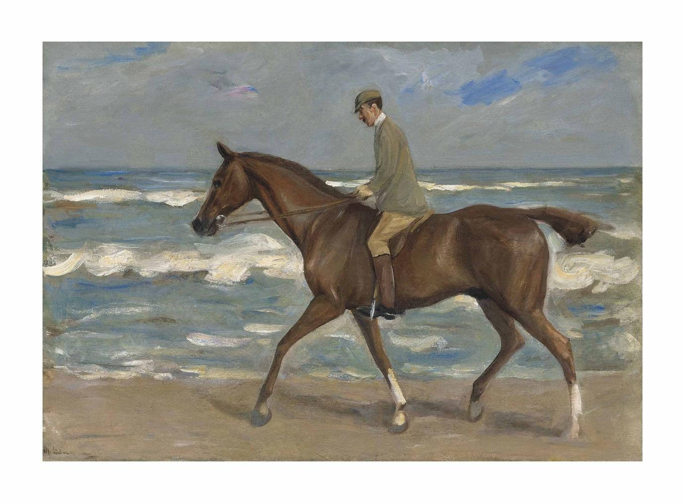 Max Liebermann-Reiter Am Strand Nach Links-1900
