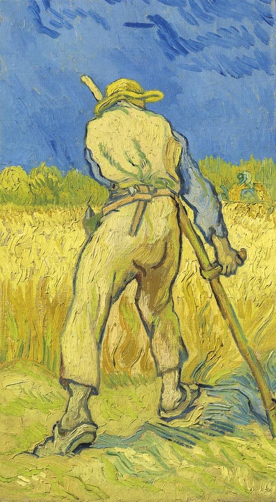 Vincent van Gogh-Le Moissonneur (D'Apres Millet)-1889