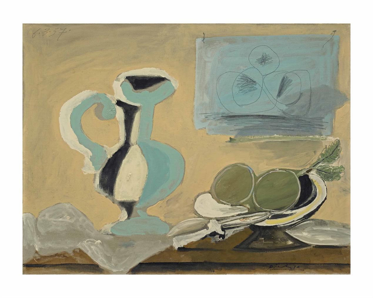 Pablo Picasso-Nature Morte Au Pichet-1937