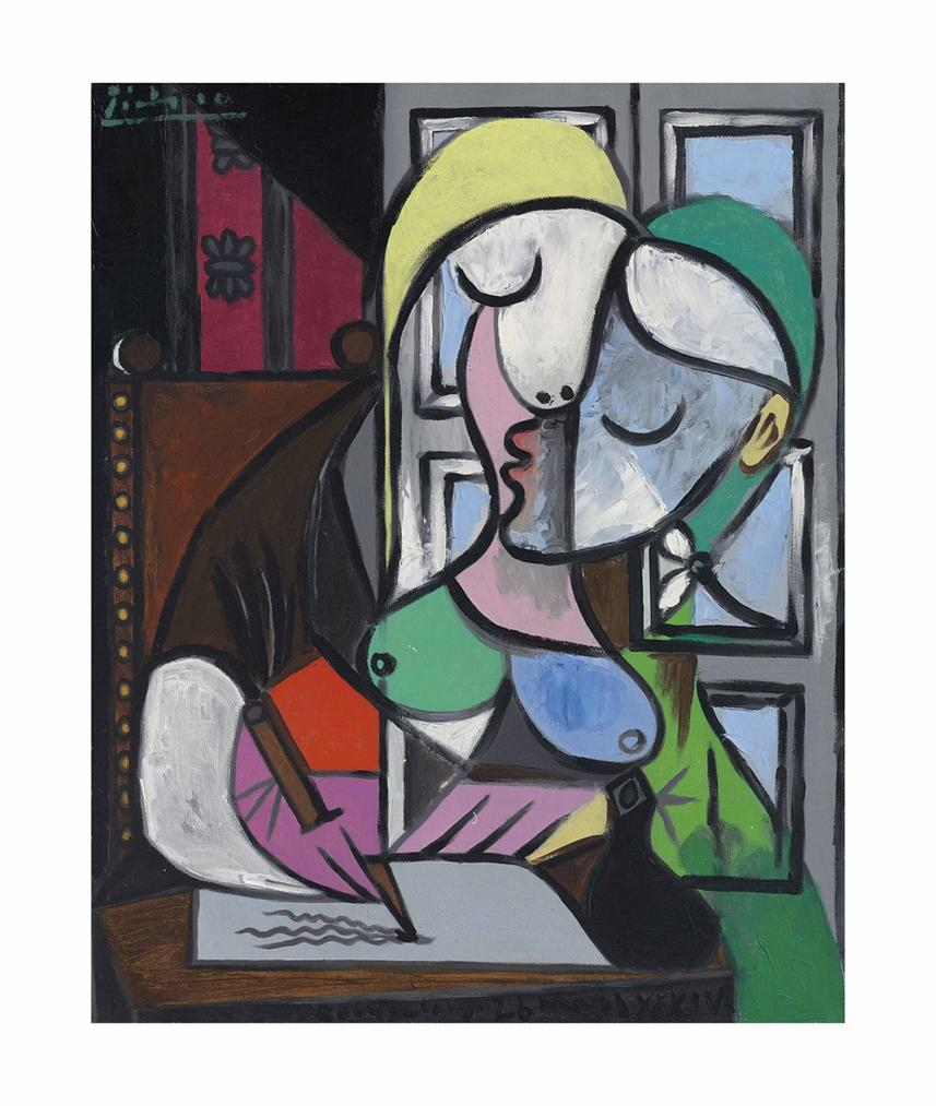 Pablo Picasso-Femme Ecrivant (Marie-Therese)-1934