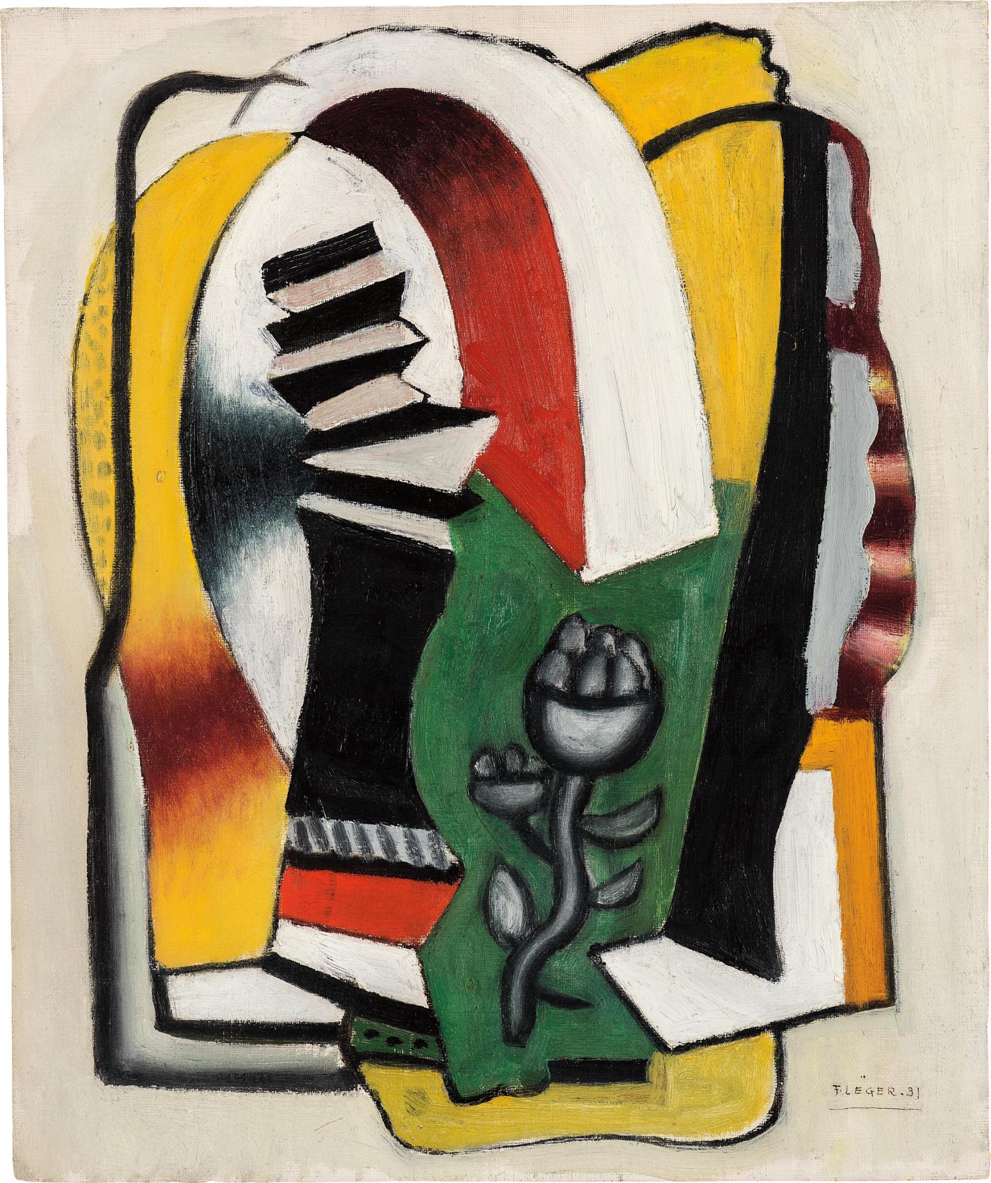 Fernand Leger-Composition A La Fleur-1931