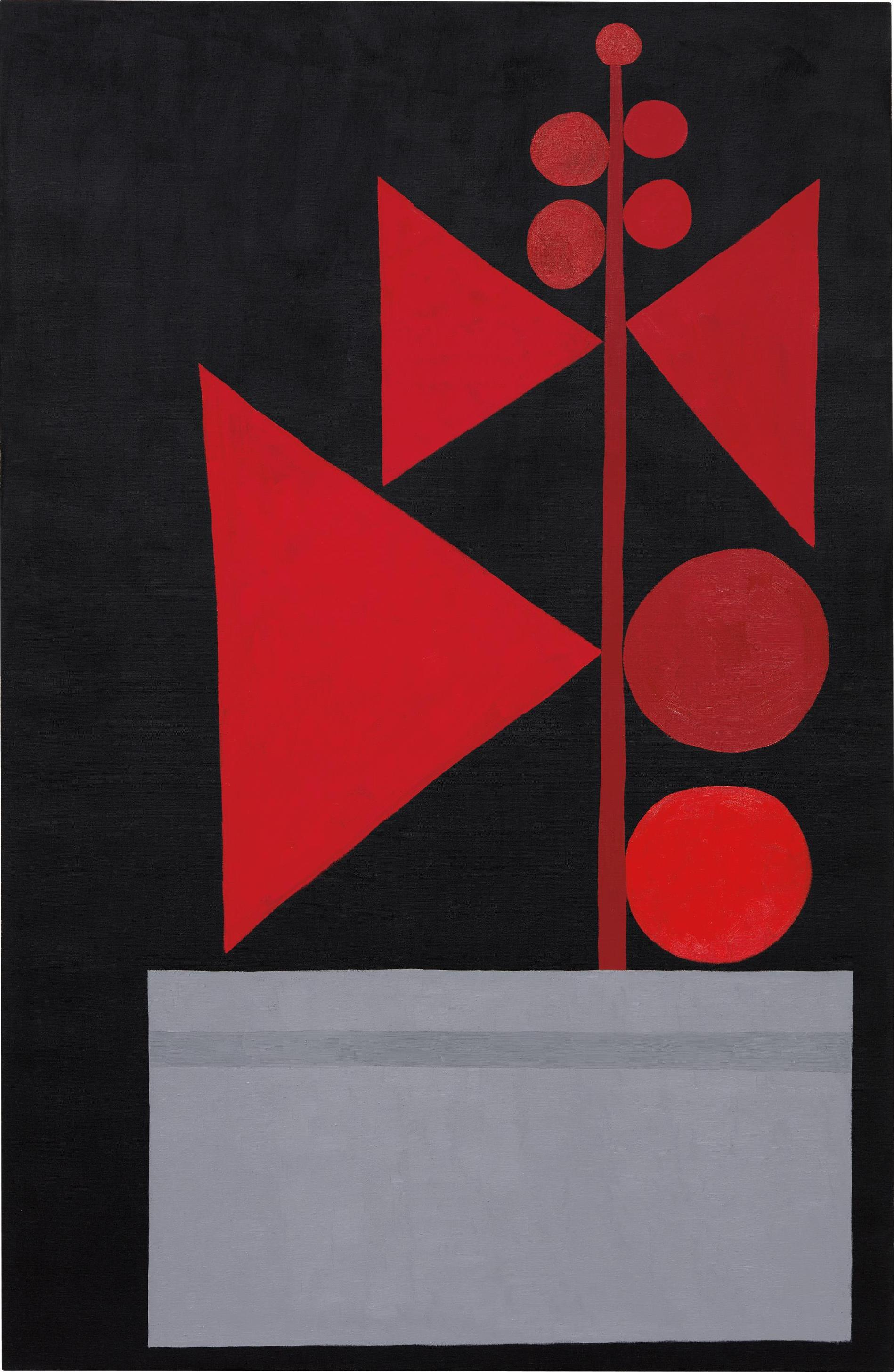 Jonas Wood-Untitled (Red And Black)-2009